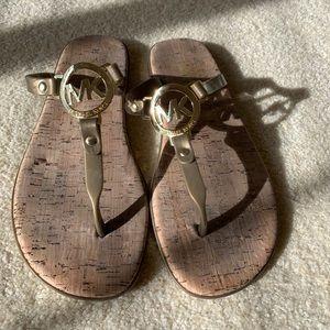 Michael Kors Jelly Flip Flop Cork (bronze/size 8)
